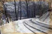 Snow Scene of Road