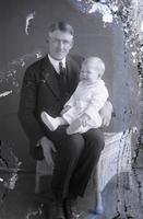 Thomas C. Marshall, Jr., as an infant with his father, T. Clarence