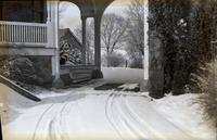 Driveway and stairs at Auburn Heights during winter