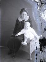 Thomas C. Marshall, Jr., as an infant with his mother, Esther