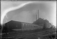 #1 Fiber Mill building and railroad tracks, Yorklyn