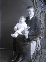 Thomas C. Marshall, Jr. as an infant with his father, T. Clarence