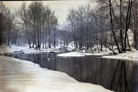 Winter scene at Red Clay Creek