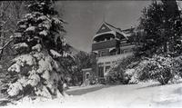 Auburn Heights Mansion from the East during winter