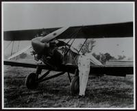 Henry Belin du Pont next to his Buhl-Verville CA-3 Airster