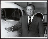 Edward B. du Pont next to plane