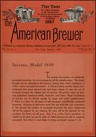The American Brewer vol. 72, no. 01 (1939)