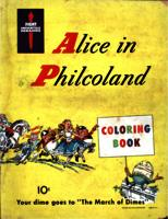 Alice in Philcoland coloring book