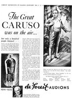 The great Caruso was on the air