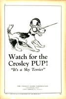 "Watch for the Crosley pup! ""It's a Sky Terrier"""