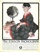 The Edison phonograph is equally delightful in entertaining a crowd of friends
