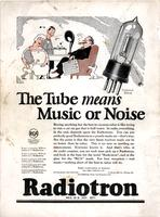The tube means music or noise