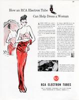 How an RCA electron tube can help dress a woman