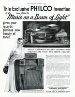 This exclusive Philco invention - beam of light