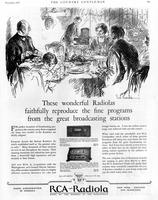 These wonderful Radiolas faithfully reproduce the fine programs from the great....