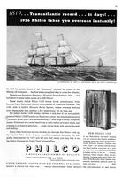 1819...Transatlantic record...21 days!...1936 Philco takes you overseas instantly!