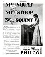For 1938...Philco introduces an entirely new radio...