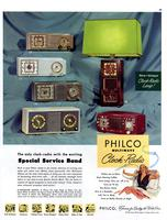 The only clock-radio with the exciting special service band : Philco Multiwave Clock-Radio