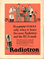It's a genuine UV-201A only when it bears the name Radiotron and the RCA mark