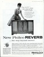 New Philco Reverb...the step beyond stereo!