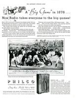 "A ""Big Game"" in 1876...Now radio takes everyone to the big games!"