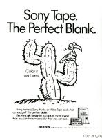 Sony Tape. The perfect blank. Color it wild west