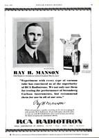 Ray H. Manson, Chief Engineer, Stromberg Carlson Telephone Mfg. Co., says...
