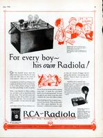 For every boy---his own Radiola!
