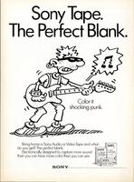 Sony Tape. The perfect blank. Color it shocking punk