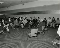 Gaudion discussion with students (April 1974)