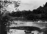Eleutherian Mills dam on Brandywine Creek