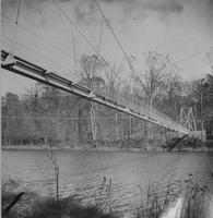Suspension bridge, Eleutherian Mills