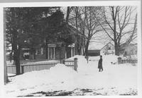 Unidentified house in Henry Clay Village, snow scene