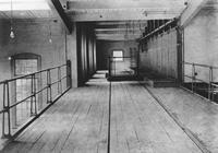 Interior of pulp keg mill in Hagley Yard