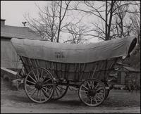 Conestoga powder wagon, side view