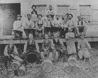 Employees of E.I. du Pont de Nemours & Co.'s wooden keg mill
