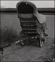 Conestoga powder wagon, front view