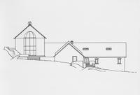 Architectural drawing of Soda House converted for Hagley Library