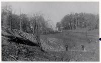 Explosion at DuPont Brandywine Mills Upper Yard, 1890 October 7, panorama series