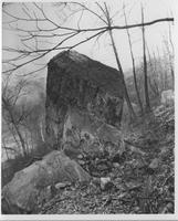 Rock formation overlooking Brandywine Creek, downstream from New Bridge Station