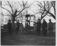 Alfred I. du Pont with men from Henry Clay, Delaware at his Cherry Island, Maryland property
