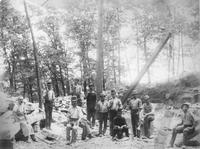 Quarry workers near Montchanin, Delaware