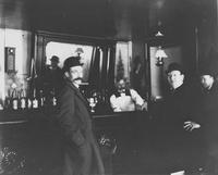 Hagley workmen in saloon, possibly Robinson's saloon in Wilmington, Delaware