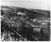 Henry Clay, Delaware, and Walker's Banks seen from Rockford Tower during winter