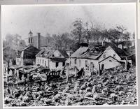 Damage to Upper Banks and Upper Yard from October 1890 explosion