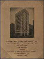 Westmoreland Coal Co. announces the removal of its Philadelphia offices to the Lewis Building