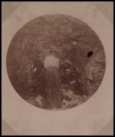 Unidentified group of two women and two men at surface mine