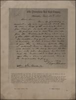 Print of correspondence from J. Edgar Thomson to Hon. John Covode, Esq., 1855-11-28