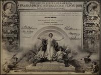 Westmoreland Coal Co. certificate from the Panama-Pacific International Exposition