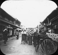 Street scene in China, Sichuan or Hubei Province
